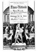 Ehren-Urkunde für Max Krauß von 1921